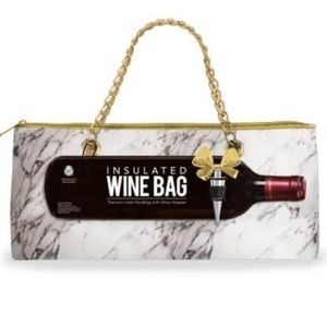 Marble Colored Insulated Wine Bag